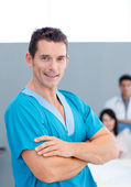 Portrait of a confident doctor — Stockfoto