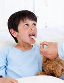 Cute little boy attending medical exam — Stock Photo