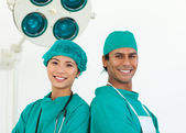 Close-up of two ethnic surgeons — Stock Photo