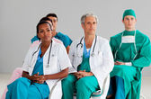 Team of doctors at a conference — Stock Photo