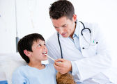 Cute little boy attending a medical exam — Stock Photo