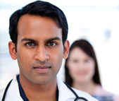 Portrait of a confident ethnic doctor — Stock Photo