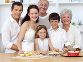 Big family baking in the kitchen — Stock Photo