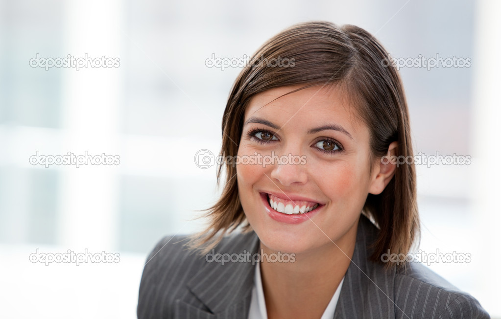 Portrait of a female executive at the office in a company — Stock Photo #10292349