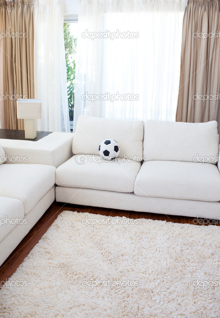 High angle of a living-room with a white couch — Stock Photo #10292998