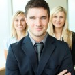 Portrait of three young business — Stock Photo