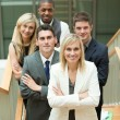 Businesspeople with a woman in the middle — Stock Photo #10301655