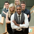 Business team in a stairs — Stock Photo