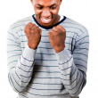 Young man with fists Clenched — Stock Photo #10302197