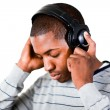 Stock Photo: Mlistening to music