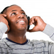 Young adult listening to music — Stock Photo #10302217