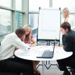 Business working together in a meeting — Stock Photo