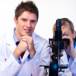 Scientists working together in a laboratory — Stock Photo