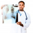 Doctor looking at an x-ray — Stock Photo