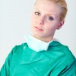 Female doctor looking serious — Stock Photo #10303294