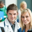 Young doctors in hospital — Stock Photo #10303440