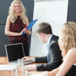 Woman presenting at a business teamwork meeting — Stock Photo #10303497