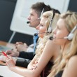 Stock Photo: Business team in call center