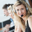 Business team in a call center — Stock Photo #10303596