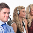 Three in a call centre — Stock Photo #10303784