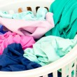 Stock Photo: Close-up of linen basket