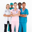 Serious team of doctors looking at the camera — Stock Photo #10307933