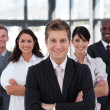 Business team in an office — Stock Photo