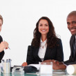 Business team in a meeting looking at the camera — Stock Photo #10308518
