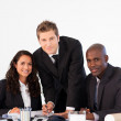 Business team in a meeting looking at the camera — Stock Photo #10308546