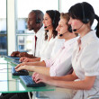 Business employees in a call center — Stock Photo #10308572
