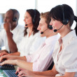 Business employees in a call center — Stock Photo #10308578