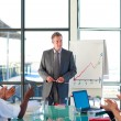 Senior manager in a presentation — Stock Photo