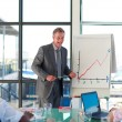 Mature manager speaking in a presentation — Stock Photo #10308707