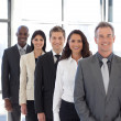 Stock Photo: Businesspeople from different cultures looking at camera