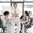Business manager leading team of workers — Stock Photo #10309213