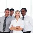 Business smiling at the camera — Stock Photo #10309280