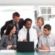 Business-Team arbeiten in office — Stockfoto