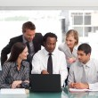 Foto Stock: Business team working in office