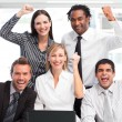Enthusiastic business team celebrating success — Stock Photo #10309297