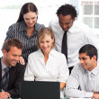 Stock Photo: Business team working in an office