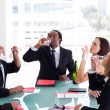 Business team celebrating a success — Stock Photo #10309383
