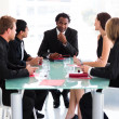 Business team interacting in a meeting — Stock Photo #10309389