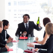 Business team celebrating a success with champagne — Stock Photo #10309403