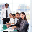 Confident business team in a presentation — Foto Stock