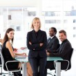 Smiling business in a meeting — Stock Photo