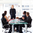 Businesspeople clapping in a meeting — Stock Photo