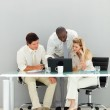 Business discussing in an office — Stock Photo