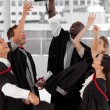 Foto de Stock  : Group of celebrating their Graduation