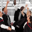 Group of celebrating their Graduation — Foto de Stock