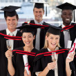 Group of Graduating from College — Stock Photo #10309850